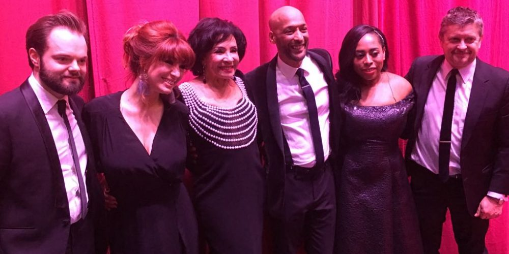 Shirley Bassey and SCD singers Palladium 2018